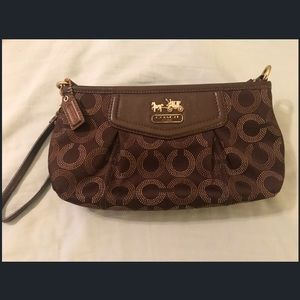 Coach Wallet/ Wristlet! Chocolate Brown!
